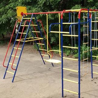 Детские уличные игровые комплексы из металла