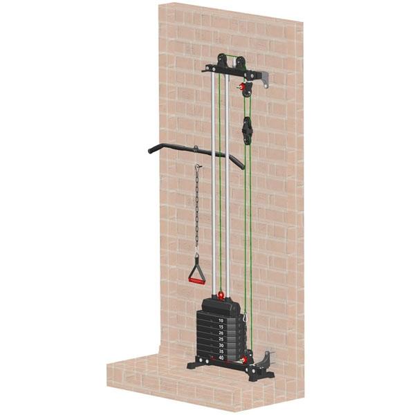Блоковый тренажер пристенный Leco-IT Starter гп044110