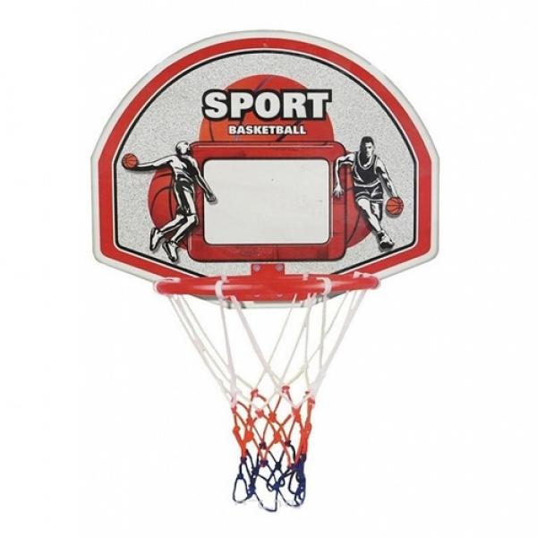 Баскетбольный щит пластиковый с металлическим кольцом