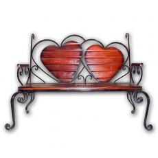 Скамейка (кованое изделие) «Два сердца»