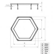 Батут Leco-IT Home диам. 135 см,гп 6010.