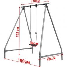 Качели одиночные Leco-IT Outdoor 1,9 х 1,9 м